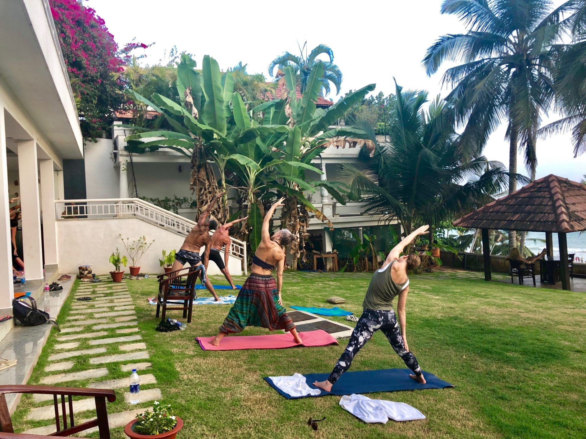 Kerala Retreat Yoga Outdoors