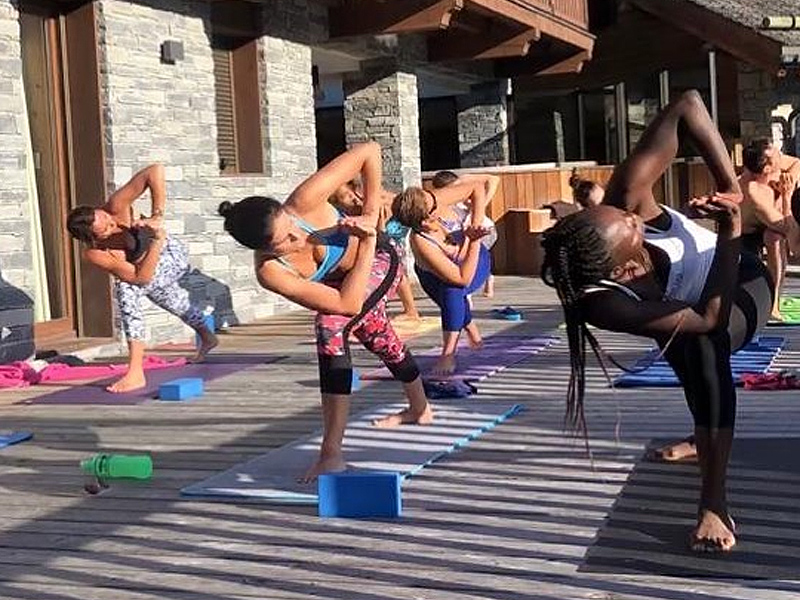 Meribel Yoga Practice